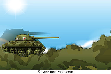A military tank - Illustration of a military tank