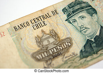 A million peso bill from the bank of Chile
