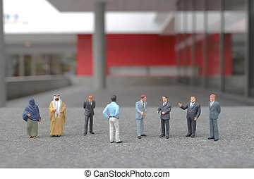 a mini of business figure on the meeting
