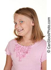 mischevious young girl