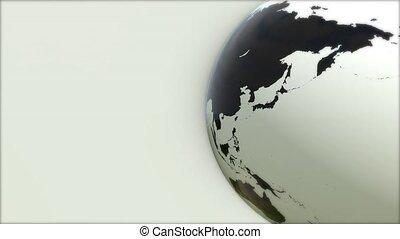 A model of the Earth. 3D Earth - A model of the Earth