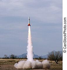 A Model Rocket Launch