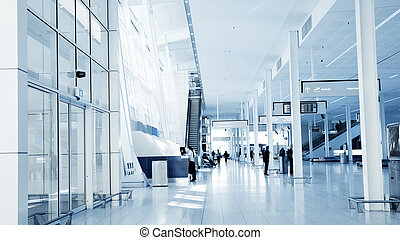 Airport Interior - A Modern Airport Interior