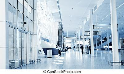 Airport Interior - A Modern Airport Interior