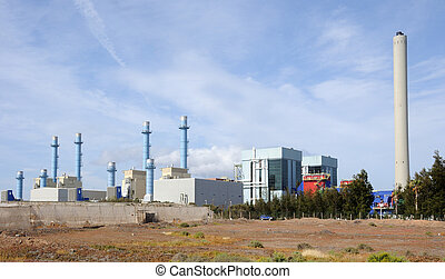 A modern electric power station