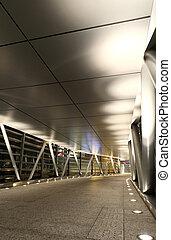 a modern flyover at night