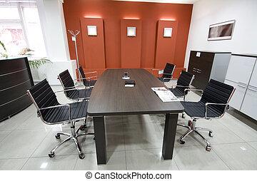 a, modern, hivatal belső