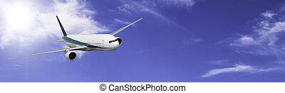 A modern jet airliner