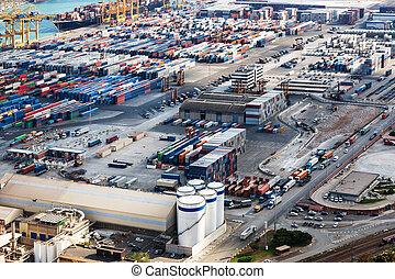 a modern seaport