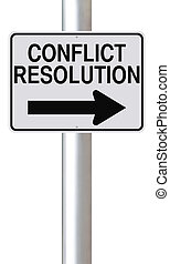 Conflict Resolution - A modified one way street sign ...