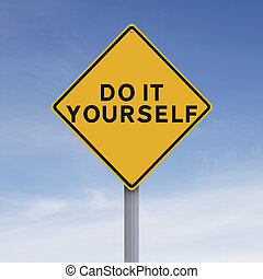 A modified road sign indication Do It Yourself