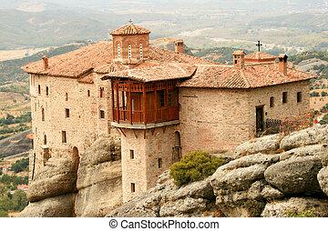 a monastery in meteoras, greece