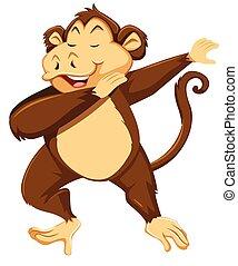 A monkey dab on white background illustration