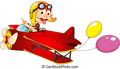 A monkey in airplane