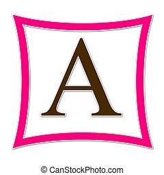 A Monogram Pink & Brown
