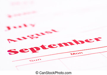 A monthly annual calendar with several months on a white background