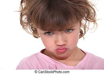 A moody little girl