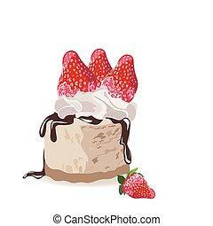 a, morceau, de, délicieux, gâteau