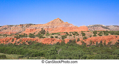 Palo Duro Canyon - A morning view of the multiple rock...