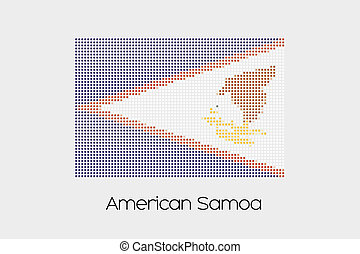Mosaic Flag Illustration of the country of American Samoa