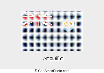 Mosaic Flag Illustration of the country of Anguilla