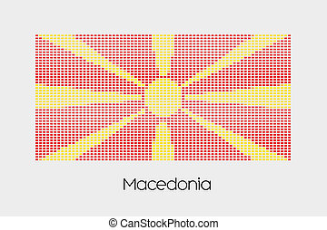 Mosaic Flag Illustration of the country of Macedonia