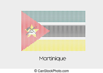 Mosaic Flag Illustration of the country of Mozambique