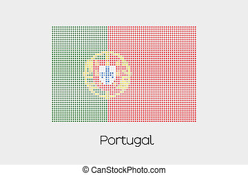 Mosaic Flag Illustration of the country of Portugal