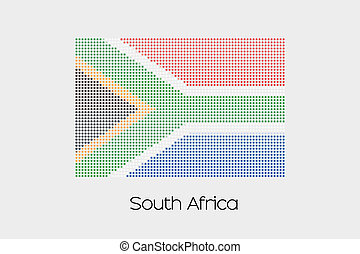 Mosaic Flag Illustration of the country of South Africa
