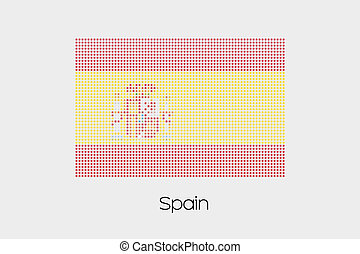 Mosaic Flag Illustration of the country of Spain