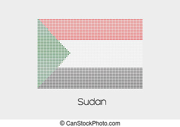 Mosaic Flag Illustration of the country of Sudan