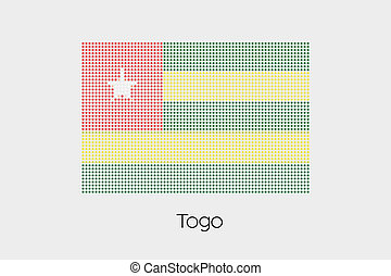 Mosaic Flag Illustration of the country of Togo