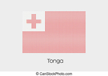 Mosaic Flag Illustration of the country of Tonga
