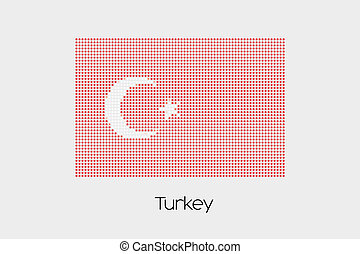 Mosaic Flag Illustration of the country of Turkey