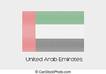 Mosaic Flag Illustration of the country of United Arab Emirates