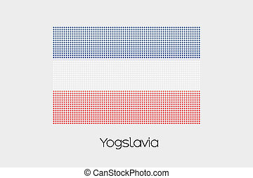 Mosaic Flag Illustration of the country of Yugoslavia