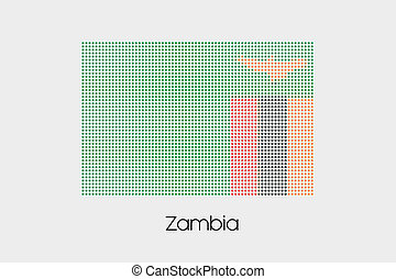 Mosaic Flag Illustration of the country of Zambia