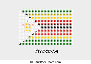 Mosaic Flag Illustration of the country of Zimbabwe
