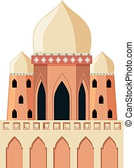 A mosque on white background
