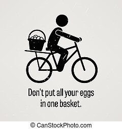 Do not put all your eggs in one bas - A motivational and...