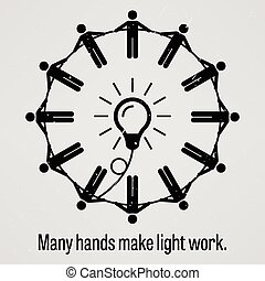 Many Hands Make Light Work - A motivational and...