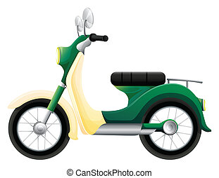 A motorbike - Illustration of a motorbike on a white ...
