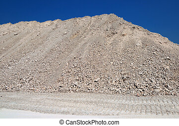 a mound of clay
