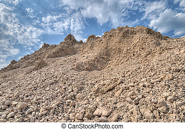 a mound of clay for construction wo