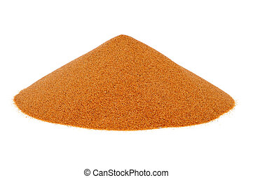 sand on a white background