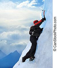 Mountain climber - A Mountain climber at Perito Moreno ...