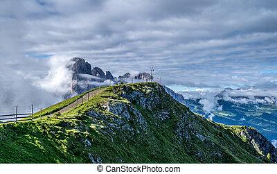 A Mountain cross in the italian dolomites