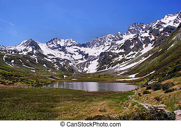 A mountain lake in South Tyrol