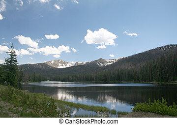A Mountain Lake In Yellowstone