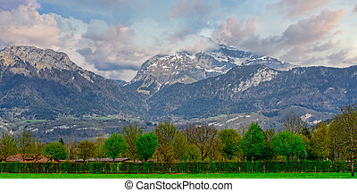 mountain landscape in the French Alps, Annecy
